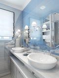 Dissipadores e torneiras do banheiro no estilo clássico Fotografia de Stock Royalty Free