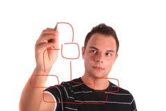 Dissipare un diagramma di flusso Fotografia Stock