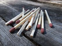 Dissipated matches Royalty Free Stock Photography