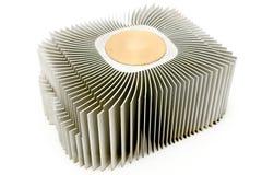 Dissipatore di calore di alluminio del dispositivo di raffreddamento del CPU Immagine Stock Libera da Diritti
