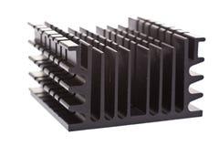 Dissipatore di calore nero Fotografia Stock