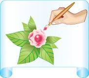 Dissipi la scheda di rosa Fotografia Stock Libera da Diritti