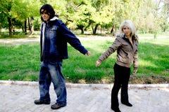 Dissolution de couples Photos libres de droits
