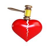 Dissolution of marriage. On a white background Stock Photos