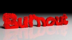 Dissolva a animação da neutralização da palavra no vermelho ilustração do vetor