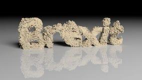 Dissolva a animação da palavra BREXIT com textura da nota do Euro ilustração do vetor