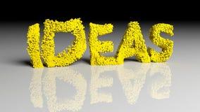 Dissolva a animação da palavra IDEIAS no amarelo ilustração royalty free