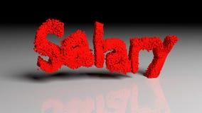 Dissolva a animação da palavra SALÁRIO no vermelho ilustração royalty free