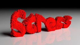 Dissolva a animação do esforço de palavra no vermelho ilustração stock