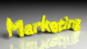Dissolva a animação do mercado da palavra no amarelo ilustração do vetor