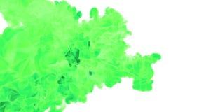 Dissolva a tinta VERDE na água ou nas emanações no ar para efeitos e compositing com máscara alfa Use-o para o fundo ilustração do vetor