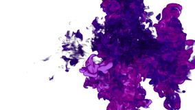 Dissolva a tinta violeta na água ou no fumo no ar para efeitos e VFX compositing com máscara alfa Use-o para o fundo ilustração do vetor