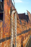 Dissolved ship. Detail of a dissolved ship in a scrap yard Royalty Free Stock Images