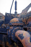 Dissolved ship. Detail of a dissolved ship in a scrap yard Stock Image