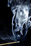Dissolved into smoke Royalty Free Stock Photos