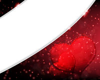 Dissolved Valentines Day hearts Royalty Free Stock Photo