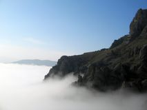 Dissolving. The Clouds and fog are coming Royalty Free Stock Photography