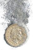 Dissolving Pound Royalty Free Stock Photos