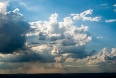 Dissolving Thunderstorm near sunset Stock Photography