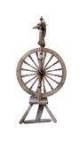 Distaff Spinning Wheel Isolated Stock Image