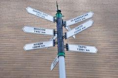 Distance de Toronto à différentes villes Photographie stock
