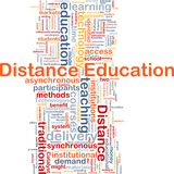 Distance education background concept Stock Photo