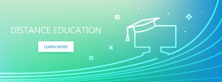 Distance education banner Stock Images