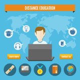 Distance Education Composition Royalty Free Stock Image
