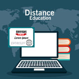 Distance education design. Illustration eps10 graphic Royalty Free Stock Images