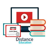 Distance education design. Illustration eps10 graphic Stock Photos