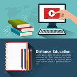 Distance education design. Illustration eps10 graphic Stock Images