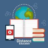 Distance education design. Illustration eps10 graphic Royalty Free Stock Image