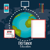 Distance education design. Illustration eps10 graphic Royalty Free Stock Photos