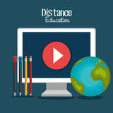 Distance education design. Illustration eps10 graphic Stock Photo