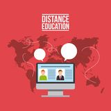 Distance education design. Illustration eps10 graphic Stock Photography