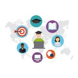 Distance education design. Illustration eps10 graphic Stock Image
