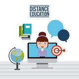 Distance education design. Illustration eps10 graphic Royalty Free Stock Photo