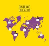 Distance education design. Illustration eps10 graphic Royalty Free Stock Photography