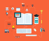 Distance education and e-learning Royalty Free Stock Image