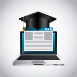 Distance education elearning icon Stock Image