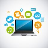 Distance education elearning icon Royalty Free Stock Photos