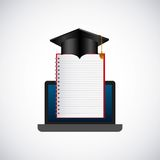 Distance education elearning icon Stock Photos