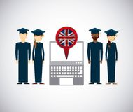 Distance education elearning icon Stock Images
