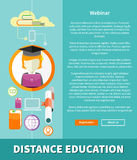 Distance Education and Learning Concept Royalty Free Stock Images