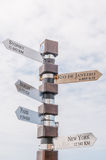 Distance marker at Cape Point Royalty Free Stock Images