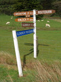 Distance marker Stock Images