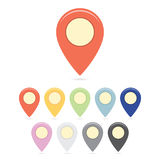 Distance Markers Set Royalty Free Stock Photos