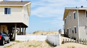 Distance between oceanfront homes east virginia usa Stock Images