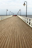 Distance. Pier on the Baltic coast in Gdynia - Orlowo, Poland stock image
