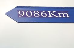 Distance sign Royalty Free Stock Photography